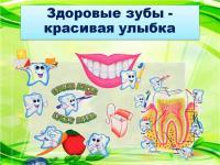 """Открытое занятие по валеологии """"Здоровые зубы - красивая улыбка"""""""