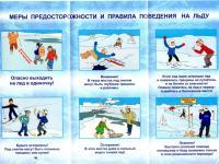 Безопасность на водных объектах и правила поведения на льду в зимний период 2019/2020 года.
